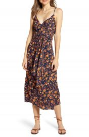 Hinge Floral Sleeveless Wrap Dress   Nordstrom at Nordstrom