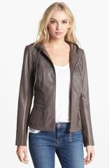 Hinge Hooded Leather Jacket at Nordstrom
