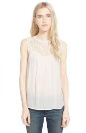 Hinge Lace Yoke Tank in white at Nordstrom
