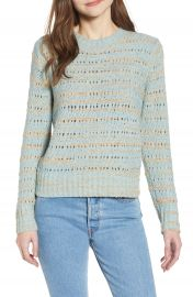 Hinge Metallic Pointelle Pullover at Nordstrom