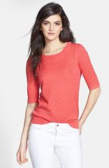Hingeand174 Polka Dot Half Sleeve Sweater at Nordstrom