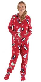 Holiday Hoodie Footie Footed Fleece Pajamas at Amazon
