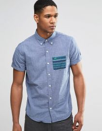 Hollister  Hollister Shirt with Contrast Pocket Short Sleeves at Asos