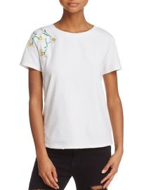 Honey Punch Daisy Embroidered Tee at Bloomingdales