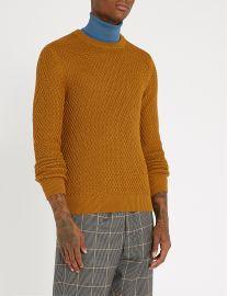 Honeycomb-Knit Sweater  Sandro at Selfridges