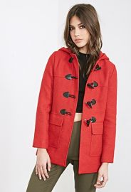 Hooded Toggle Coat  Forever 21 - 2000083682 at Forever 21