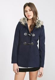 Hooded Toggle Topcoat  Forever 21 - 2000060160 at Forever 21