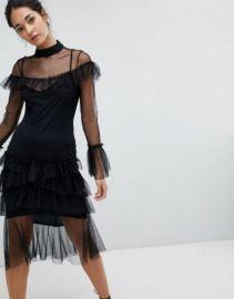 Hope   Ivy Long Sleeve Mesh Tier Dress at asos com at Asos