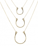 Horse Shoe Charm Necklace at Peggy Li