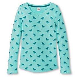 Horse print thermal top at Target