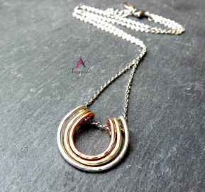 Horseshoe Pendant Necklace at Etsy