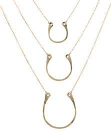 Horseshoe charm necklace at Peggy Li