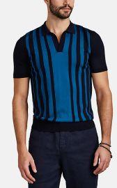 Horton Striped Merino Wool Polo Shirt at Barneys