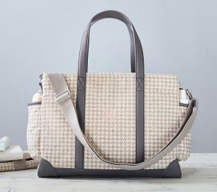 Houndstooth Classic Diaper Bag at Pottery Barn