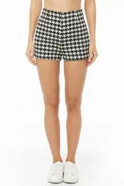Houndstooth High-Waist Shorts at Forever 21