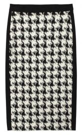 Houndstooth Skirt at DKNY