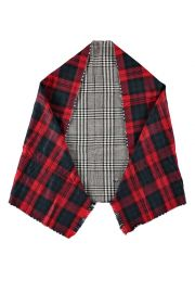 Houndstooth and plaid scarf at Boohoo