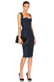 Houndstooth dress by Victoria Beckham at Forward