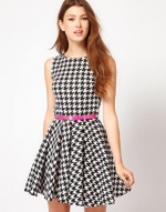 Houndstooth dress from ASOS at Asos