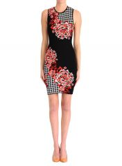 Houndstooth floral dress at Clover Canyon