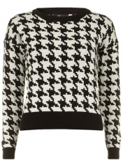 Houndstooth sweater at Dorothy Perkins