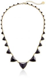 House of Harlow 1960 Gold-Plated Pyramid Station Black Necklace  21 quot at Amazon