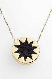House of Harlow 1960 Mini Sunburst Pendant Necklace in Black at Nordstrom