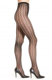 Hue  Bold Herringbone  Net Tights at Nordstrom