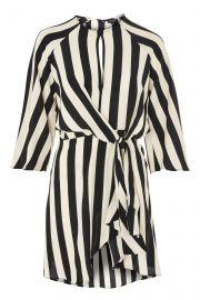 Humbug Stripe Knot Front Shift Dress at Topshop