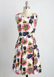 I Rest My Grace Dress in Painted Blooms at ModCloth