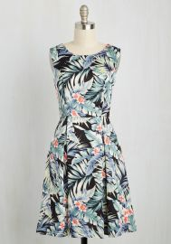 I Rest My Grace Dress in Palms at ModCloth