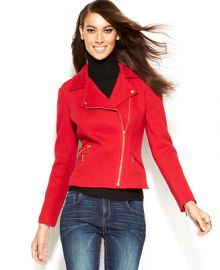 INC International Concepts Asymmetrical Moto Jacket - Women - Macys at Macys