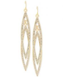 INC International Concepts Double Navette Pavé Crystal Earrings at Macys