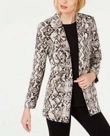 INC International Concepts I N C  Snake-Print Blazer  Created for Macy s  Women -  Jackets   Blazers - Macy s at Macys