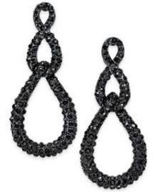 INC International Concepts Jet-Tone Pavé Linked Drop Earrings at Macys