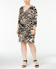 INC International Concepts Plus Size Animal-Print Wrap Dress  Created for Macy s at Macys