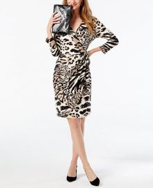 INC International Concepts Printed Wrap Dress at Macys