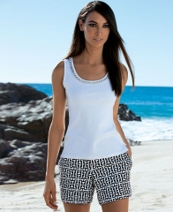 INC International Concepts Rhinestone Tank Top in white at Macys