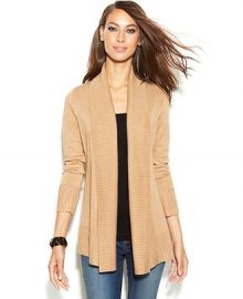 INC International Concepts Ribbed-Knit Open-Front Cardigan at Macys