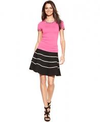 INC International Concepts Striped A-Line Skirt - Women - Macys at Macys