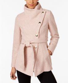 INC International Concepts Textured Wrap Coat at Macys