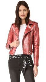 IRO Axelle Metallic Moto Jacket at Shopbop