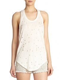 IRO - Doris Distressed Linen Tank Top at Saks Fifth Avenue