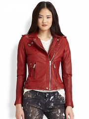 IRO - Han Leather Moto Jacket at Saks Fifth Avenue