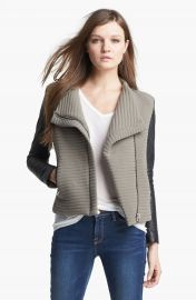 IRO   x27 Mulen  x27  Leather Sleeve Jacket at Nordstrom