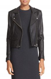 IRO  Ashville  Lambskin Leather Moto Jacket at Nordstrom
