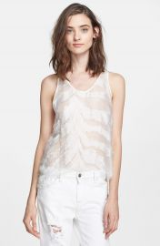 IRO  Orso  Burnout Silk Tank at Nordstrom