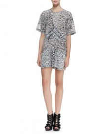 IRO Carline Short-Sleeve Printed Dress at Neiman Marcus
