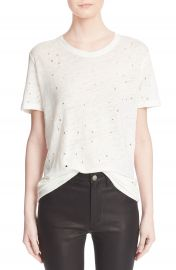 IRO Clay Cutout Linen Tee at Nordstrom