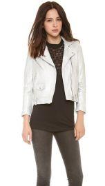 IRO Ebya Metallic Leather Jacket at Shopbop